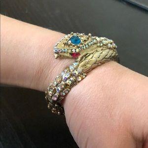 Betsey Johnson Rhinestone Elastic Snake Bracelet